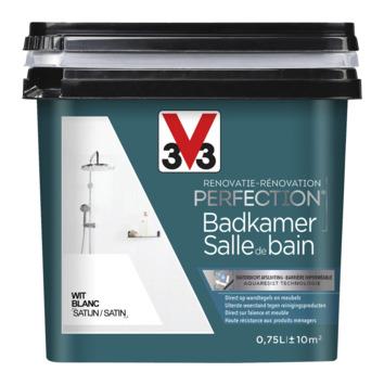 Peinture de rénovation pour salle de bain blanc V33 750 ml