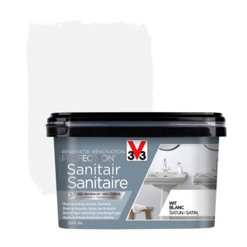 V33 Renovatieverf sanitair wit 1L