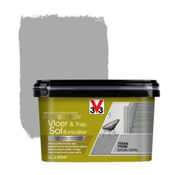 Peinture de rénovation pour sol & escalier titane V33 2 litres