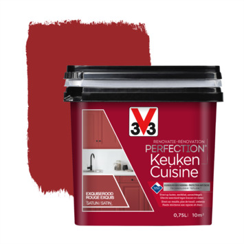 V33 Renovatieverf Keuken exquiserood 750 ml
