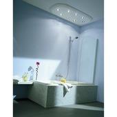 Allibert paroi de bain Line 1 67x140cm verre transparent 4mm