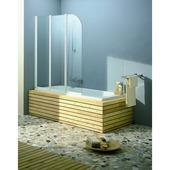 Allibert paroi de bain Line 2 120x140cm verre transparent 4mm