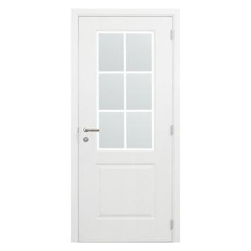 Binnendeurblad Levigato M02 wit met mat glas 201,5x83 cm