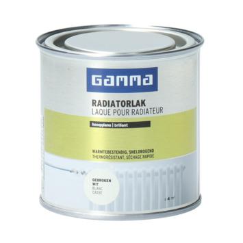 GAMMA radiatorlak hoogglans 250 ml gebroken wit