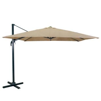 Parasol excentré Ibiza taupe Ø300 cm