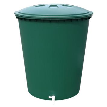 Regenton conisch groen 210 liter