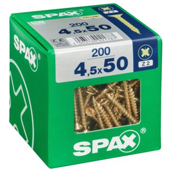 Vis PZ Spax jaune 4,5x50 mm 200 pièces