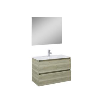 Set meuble de salle de bain Heon Atlantic 80 cm bois