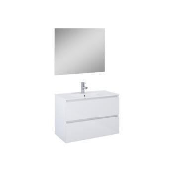 Set meuble de salle de bain Heon Atlantic 80 cm blanc
