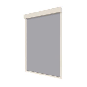 Store screen manuel 260x100 cm gris-blanc T70801