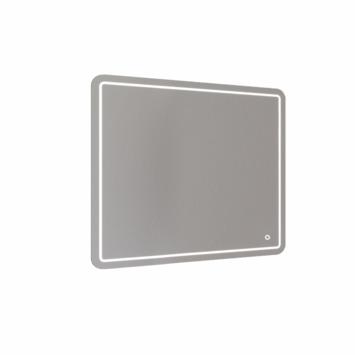 Miroir lumineux de salle de bain LED Allibert Halley 100x80 cm commande tactile