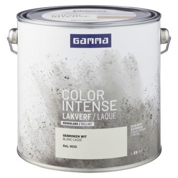 GAMMA color intense binnenlak hoogglans 2,5 L gebroken wit