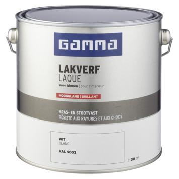 GAMMA laque intérieure haute brillance 2,5 L blanc