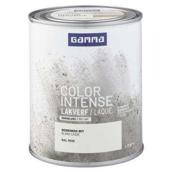 GAMMA color intense binnenlak hoogglans 750 ml gebroken wit