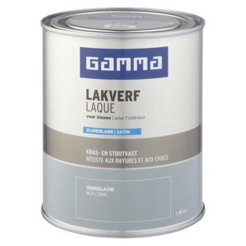 GAMMA binnenlak zijdeglans 750 ml zinkblauw