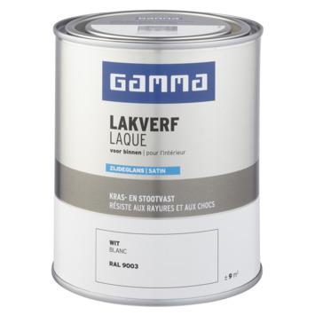 GAMMA laque intérieure satin 750 ml blanc