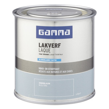 GAMMA binnenlak zijdeglans 250 ml zinkblauw