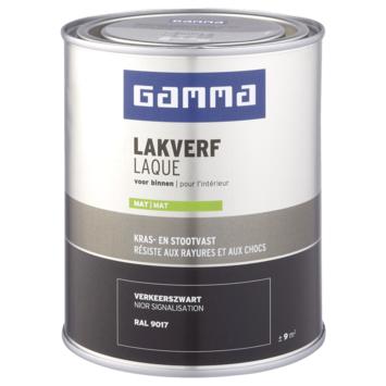 GAMMA laque intérieure mate 750 ml noir signalisation