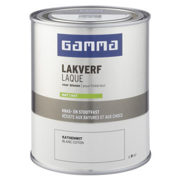 GAMMA laque intérieure mate 750 ml blanc coton
