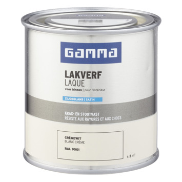 GAMMA binnenlak zijdeglans 250 ml RAL 9001