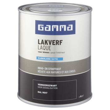 GAMMA laque intérieure satin 750 ml noir signalisation