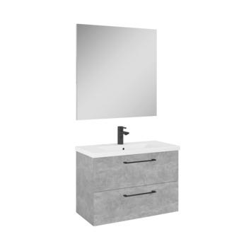 Meuble de salle de bains Sienna Atlantic 80 cm aspect béton