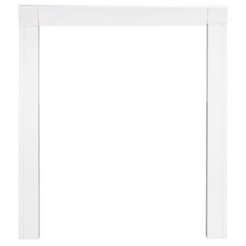 Cadre à encastrer pour porte-moustiquaire blanc 108x239 cm