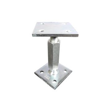 Verstelbare Paalhouder Klein Verzinkt 70x70 mm x 70x70 mm  110-180 mm