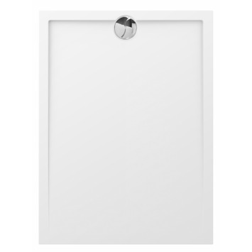Allibert Slim douchebak 120x90 cm afvoer korte kant polybeton wit
