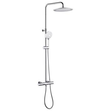 Système douche pluie + robinet Tiger Splash Akcent chromé-blanc