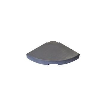 Dalle de lestage pour pied de parasol excentré anthracite - 25 kg