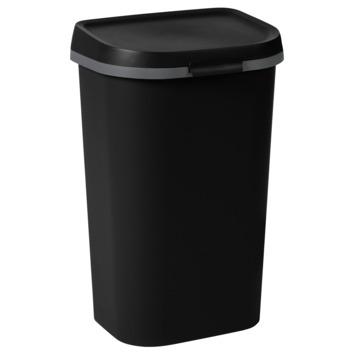 Curver afvalbak Mistral Flat 50 L zwart