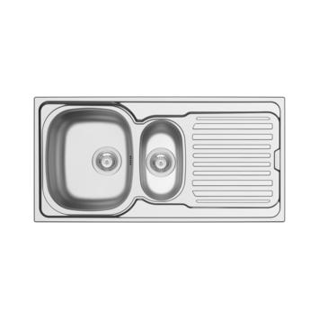 Evier à encastrer  Isifix Hypero 1000 x 500 mm 1,5 bacs