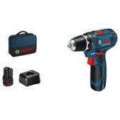 Perceuse-visseuse sans fil Bosch Professional GSR 12V-15 2Ah inclus 2 accus & chargeur