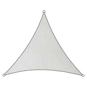Voile d'ombrage triangulaire PE-HD Livin'outdoor blanc 3,6x3,6x3,6 m