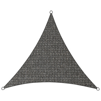 Voile d'ombrage triangulaire PE-HD Livin'outdoor anthracite 3,6x3,6x3,6 m