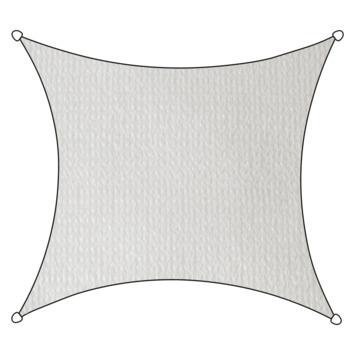 Voile d'ombrage carré PE-HD Livin'outdoor blanc 3,6x3,6 m