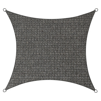 Voile d'ombrage carré PE-HD Livin'outdoor 3,6 m anthracite