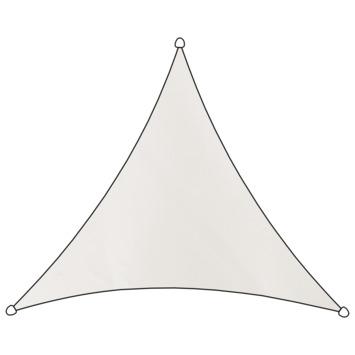 Voile d'ombrage triangulaire polyéthylène Livin'outdoor blanc 3,6x3,6x3,6 m