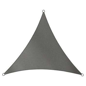 Voile d'ombrage triangulaire polyéthylène Livin'outdoor anthracite 3,6x3,6x3,6 m