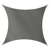 Voile d'ombrage carré polyéthylène Livin'outdoor anthracite 3,6x3,6 m