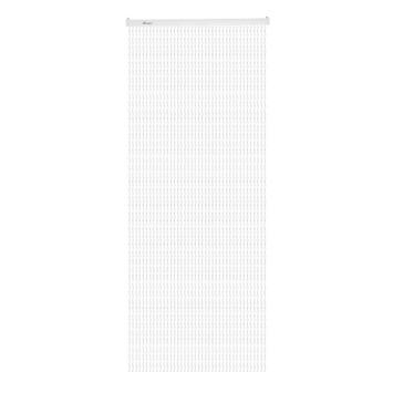 Livin' outdoor deurgordijn Twinkle wit/zwart 230x100cm