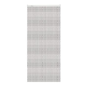 Livin' outdoor deurgordijn Cord zwart/grijs 230x100cm