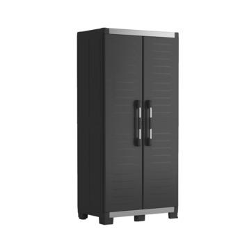 Hoge opbergkast XL garage Keter zwart 89x54x188cm