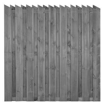 Schutting Royal met punt grijs ± 180x180 cm