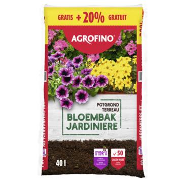 Agrofino potgrond voor bloembakken 40 L + 20% gratis