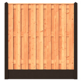 Startpakket Houtbeton tuinscherm Douglas ± 5,7 meter zonder hoek