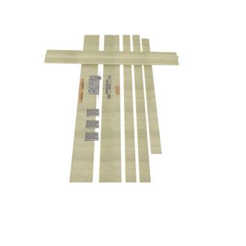 Solid Portixx deurkassement Senza Amato MDF grijsbruin 202,5x16,5x1,5 cm