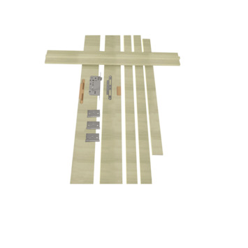 Solid Portixx deurkassement Senza Amato MDF grijsbruin 202,5x40x1,5 cm