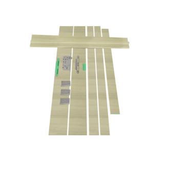 Deurkassement Senza Amato hydrofuge grijsbruin 201,5x20x1,8 cm